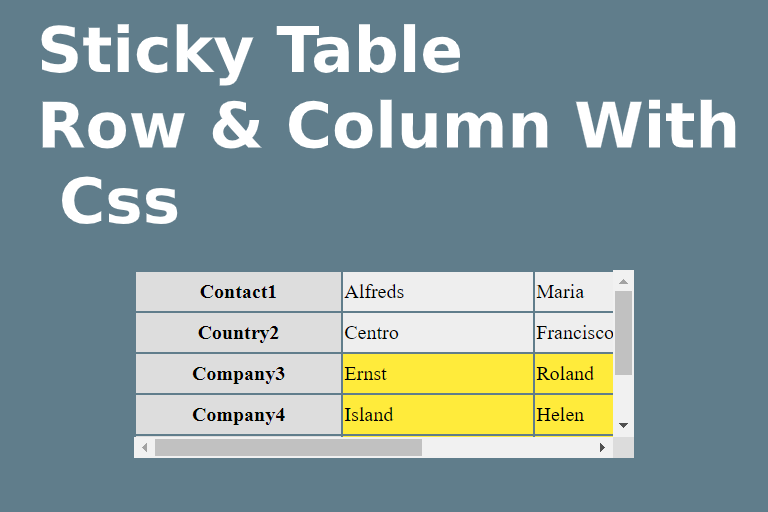 Sticky-Horizontal-Vertical-Table-Row-Column-With-Css