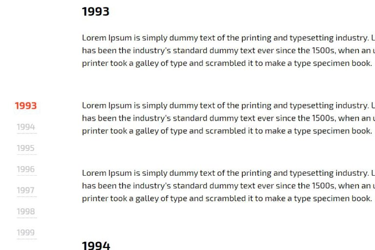 Vertical Scroll Timeline With jQuery