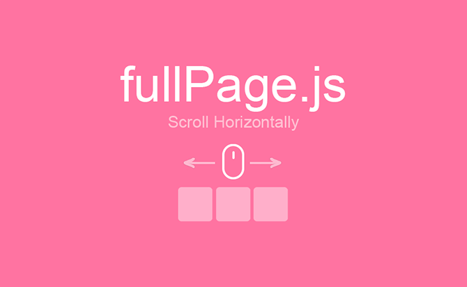 Horizontal Scroll One Page In jQuery - FullPage
