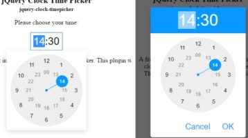 Android Timepicker Plugin In jQuery - jquery clock timepicker