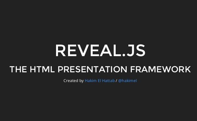 The HTML Presentation Framework-Reveal