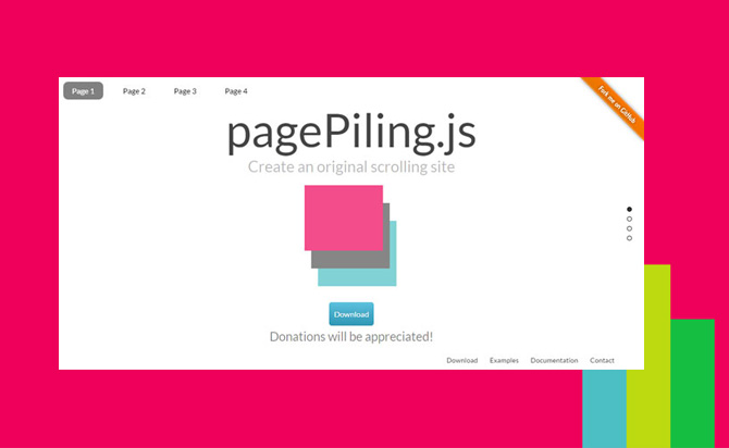 jQuery Plugin For Beautiful Full Window Scrolling Website - pagePiling.js