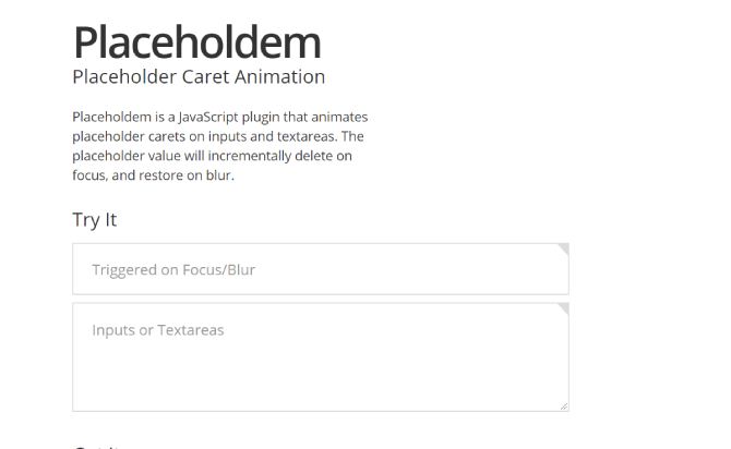 A JavaScript plugin that animates placeholder