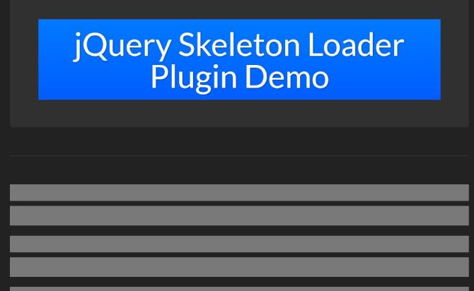 Facebook-like Content Placeholder Plugin - jQuery Skeleton Loader