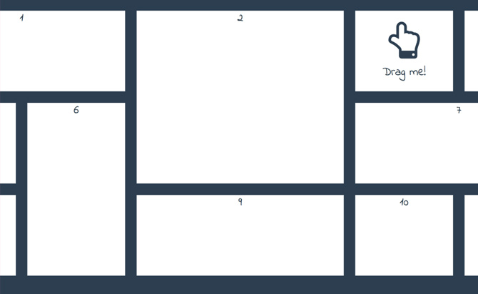 Responsive & Fluid Drag-and-Drop Grid Layout with jQuery - gridstack.js