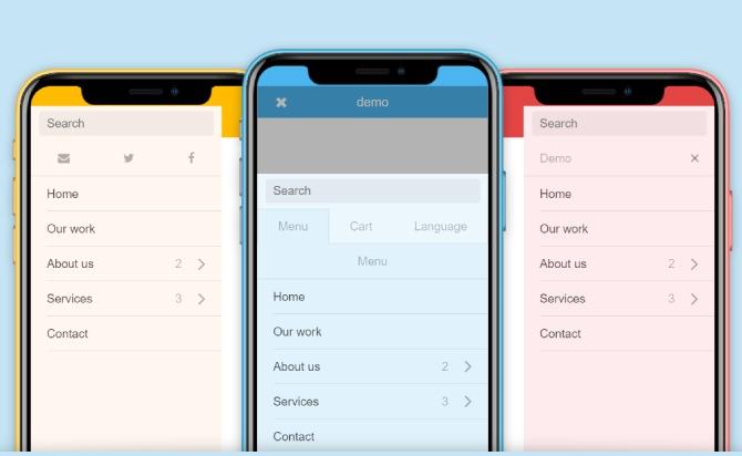 Slick and App-Like Sliding Menu Plugin With jQuery - Mmenu