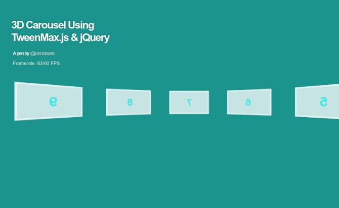 Awesome 3D Carousel Using jQuery & TweenMax.js