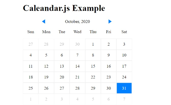 Create A Simple Event Calendar With JavaScript – Caleandar