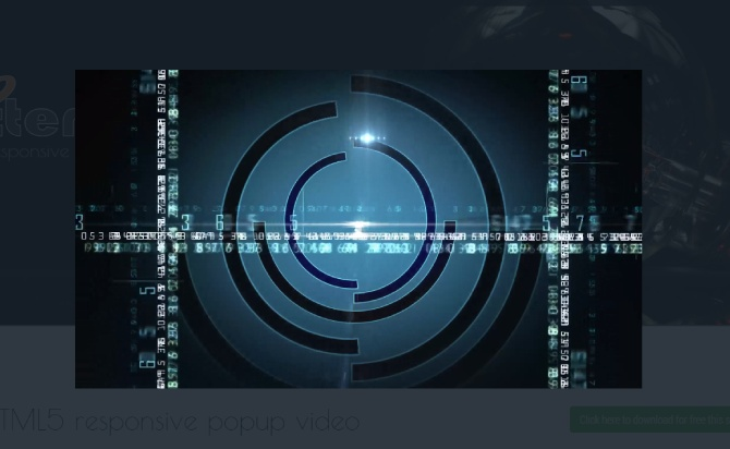 Responsive HTML5 Video Popup Plugin With jQuery - videopopup