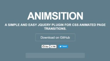 jQuery Plugin For Page Load Transition Effects - Animsition (Clickstream)