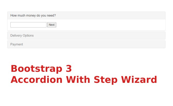 Bootstrap 3 Accordion With Step Wizard