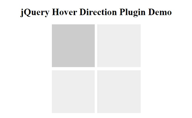 Simple jQuery Direction Aware Hover Animation Plugin - Hover Direction