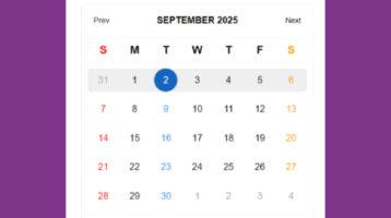 Powerful Calendar Plugin With jQuery - Calendar