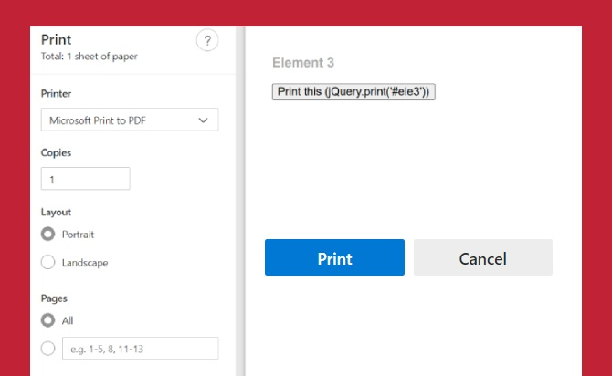 jQuery Plugin To Print Any Part Of Your Page - Print