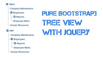 Bootstrap Menu Tree View