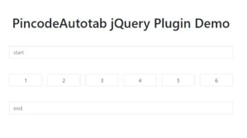 User-friendly Pincode Plugin With Auto Tab - jQuery PincodeAutotab